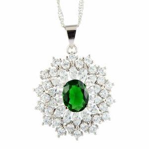 Luxury Imitated Emerald Necklace